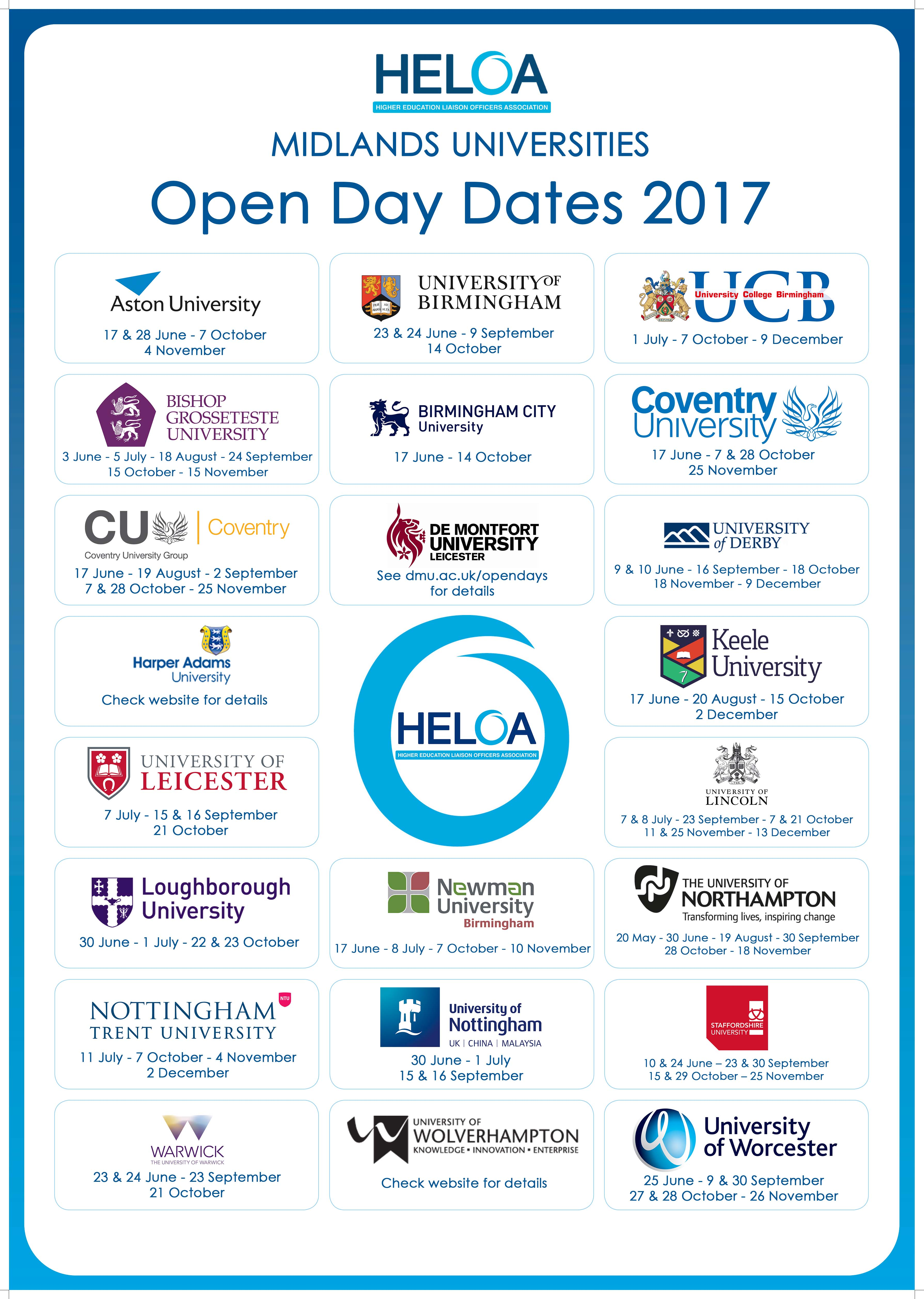 HELOA Midlands Open Day Poster 2017